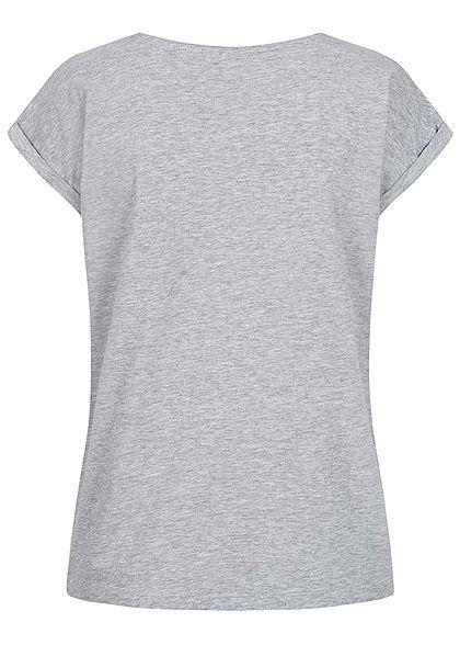 Eight2Nine Damen Basic T-Shirt grau melange