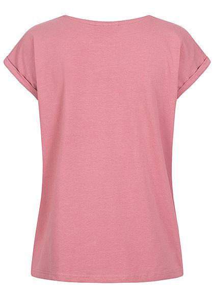 Eight2Nine Damen Basic T-Shirt mauve rosa