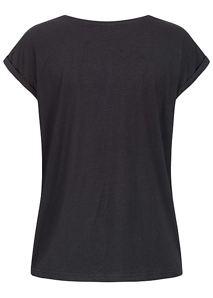 Eight2Nine Damen Basic T-Shirt schwarz