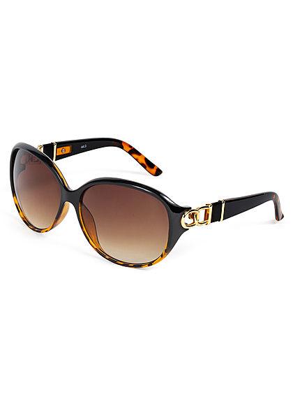 Hailys Damen Sonnenbrille mit Schmuckapplikation UV-400 Cat.3 braun