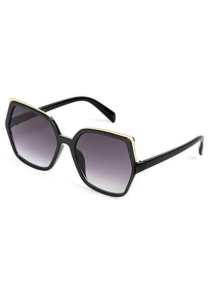 Hailys Damen Sonnenbrille im eckigen Design UV-400 Cat.3 schwarz