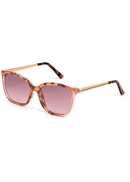 Hailys Damen Sonnenbrille Leo Print UV-400 Cat.2 braun
