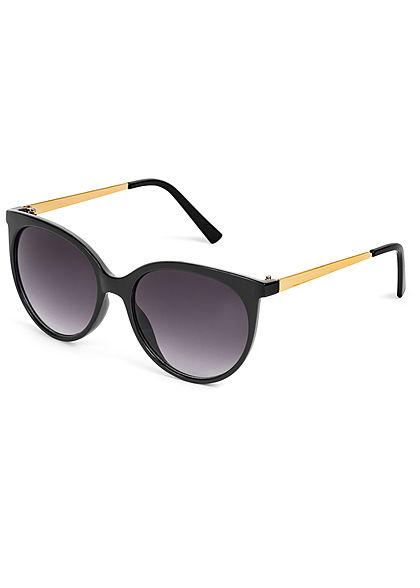 Hailys Damen Sonnenbrille runde Gläser UV-400 Cat.3 schwarz