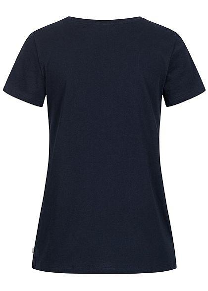 Tom Tailor Damen T-Shirt Anker Print sky captain navy blau