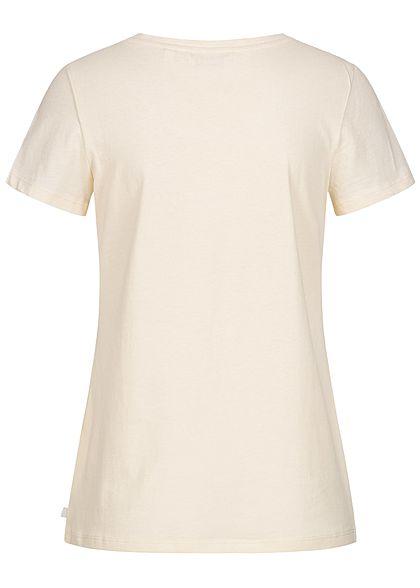 Tom Tailor Damen T-Shirt Anker Print soft creme beige