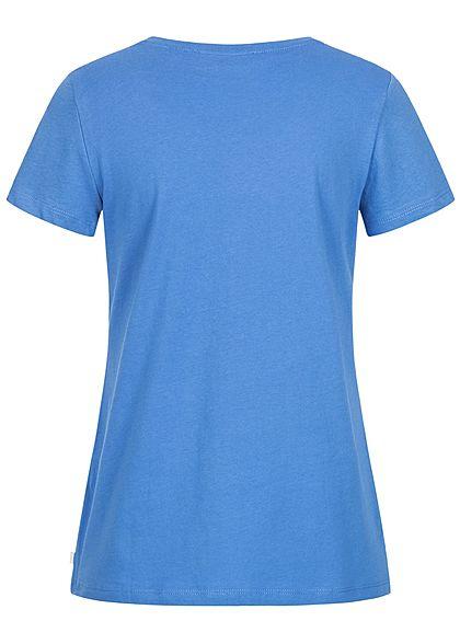 Tom Tailor Damen T-Shirt Anker Print mid blau