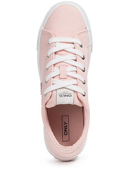 ONLY Damen Schuh Canvas Sneaker zum schnüren rose pink