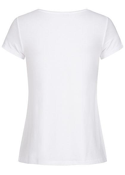 ONLY Damen Basic V-Neck T-Shirt weiss