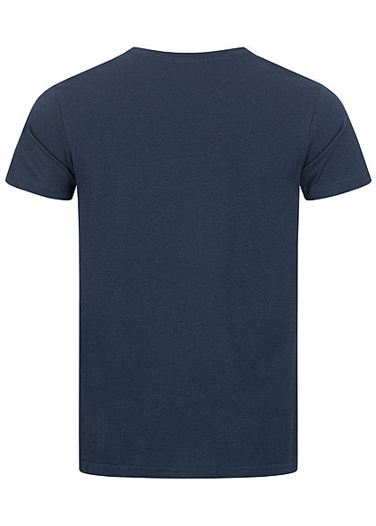 Eight2Nine Herren T-Shirt Logo Print stormy navy blau