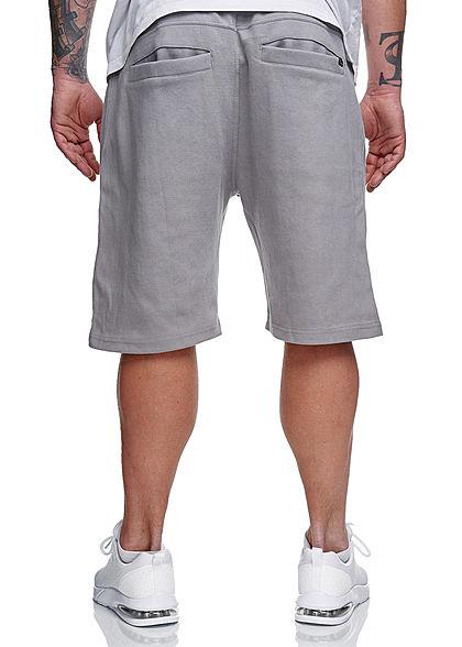 Sublevel Herren Sweatpants Shorts 4-Pockets Tunnelzug pencil grau