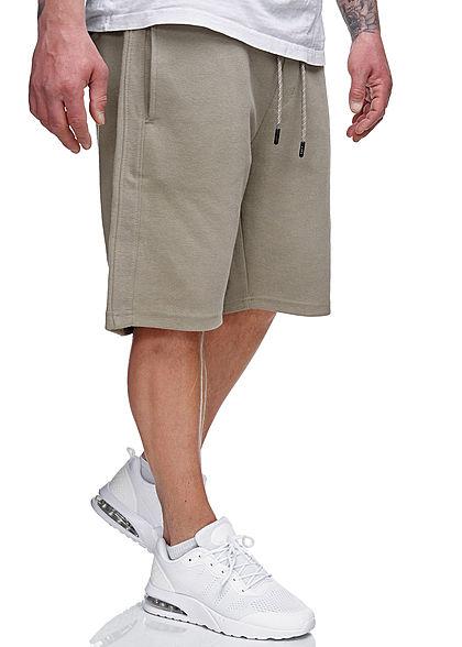 Sublevel Herren Sweatpants Shorts 4-Pockets Tunnelzug dried sage grün