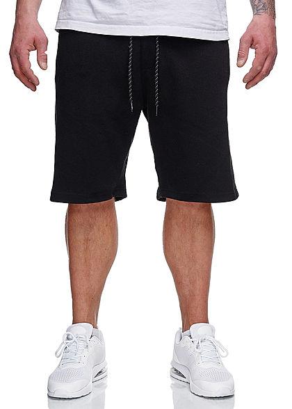 Sublevel Herren Sweatpants Shorts 4-Pockets Tunnelzug schwarz