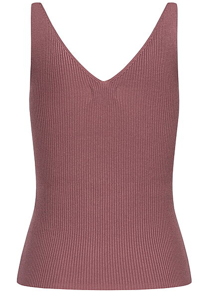 JDY by ONLY NOOS V-Neck Ribbed Top kurzer Schnitt wistful mauve lila