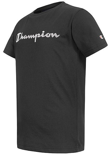 Champion Herren T-Shirt Logo Patch vorne schwarz