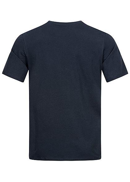 Jack and Jones Herren T-Shirt Logo Print vorne navy blazer blau