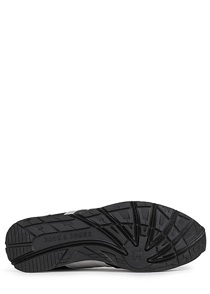Jack and Jones Herren Schuh 2-Tone Mesh Sneaker teilw. Velour Optik anthrazit schwarz