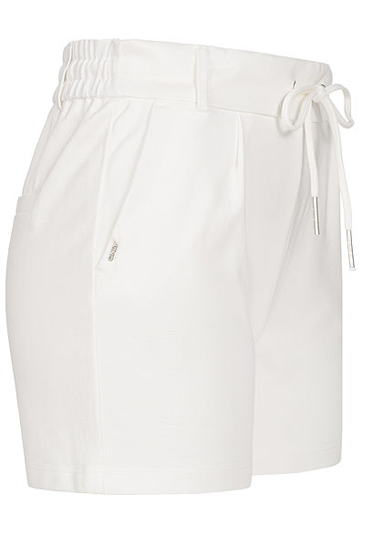 ONLY Damen NOOS Poptrash Shorts 2-Pockets Tunnelzug cloud dancer weiss