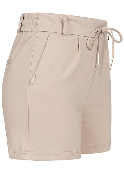 ONLY Damen NOOS Poptrash Shorts 2-Pockets Tunnelzug pure cashmere beige