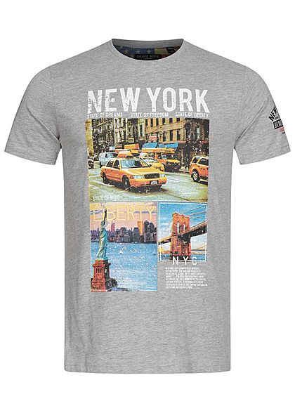 XS S M Homme Brave Soul Gris New York Tee