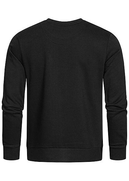 Brave Soul Herren Sweater Zipper Brusttasche jet schwarz