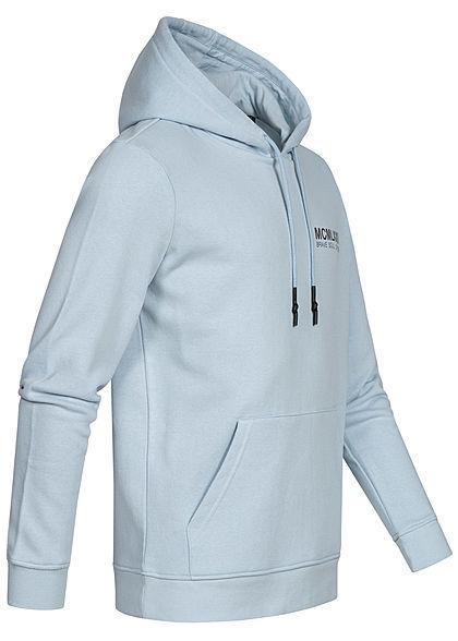 Brave Soul Herren Hooded Set Trainingsanzug Hoodie mit Shorts pale hellblau charcoal