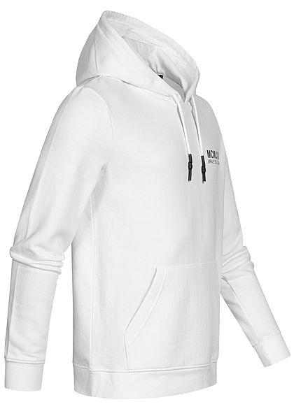 Brave Soul Herren Hooded Set Trainingsanzug Hoodie mit Shorts optic weiss charcoal