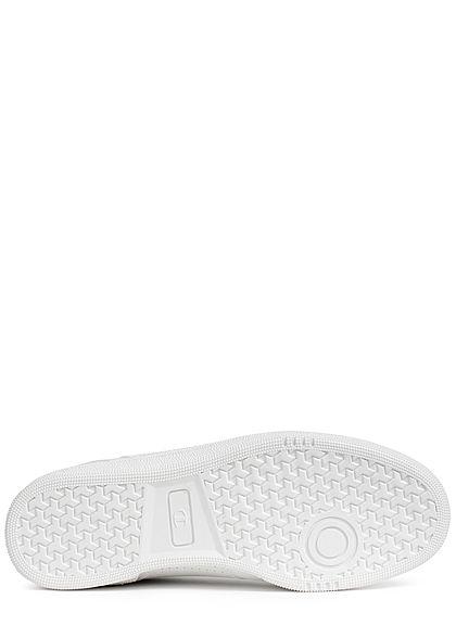 Champion Herren Schuh Low Cut Sneaker mit Logo seitl. zum schnüren unicolor weiss