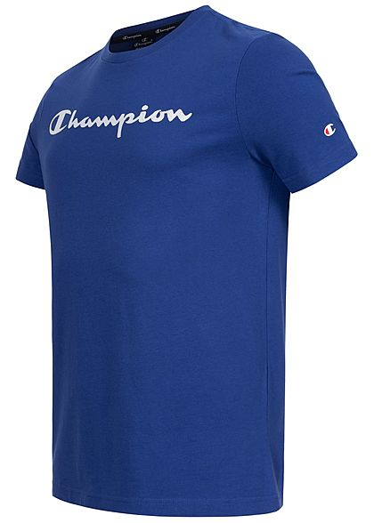Champion Herren T-Shirt Logo Patch vorne blau weiss