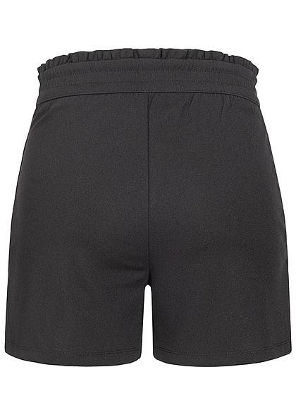 JDY by ONLY Damen NOOS Jersey Shorts mit Frilldetails 2-Pockets schwarz