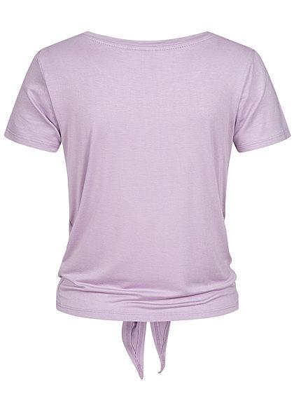 ONLY Damen NOOS T-Shirt Bindedetail vorne Unicolor orchid petal lila