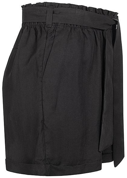 Tom Tailor Damen Paperbag Shorts inkl. Bindegürtel 2-Pockets deep schwarz