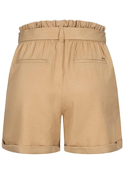 Tom Tailor Damen Paperbag Shorts inkl. Bindegürtel 2-Pockets dune beige