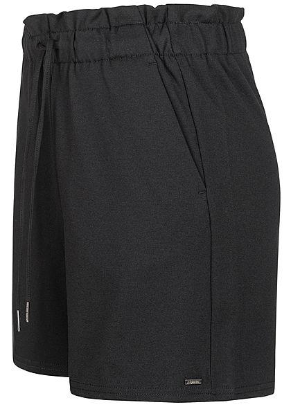 Tom Tailor Damen High-Waist Shorts Tunnelzug deep schwarz