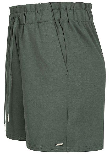 Tom Tailor Damen High-Waist Shorts Tunnelzug dusty pine grün