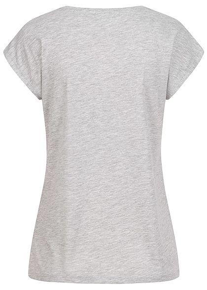 Hailys Damen T-Shirt Tweety Print marl hell grau