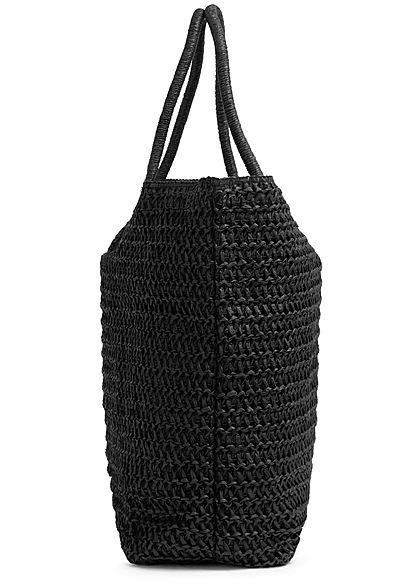 Hailys Damen Shopper Handtasche H38xB55cm mit Druckknopf schwarz