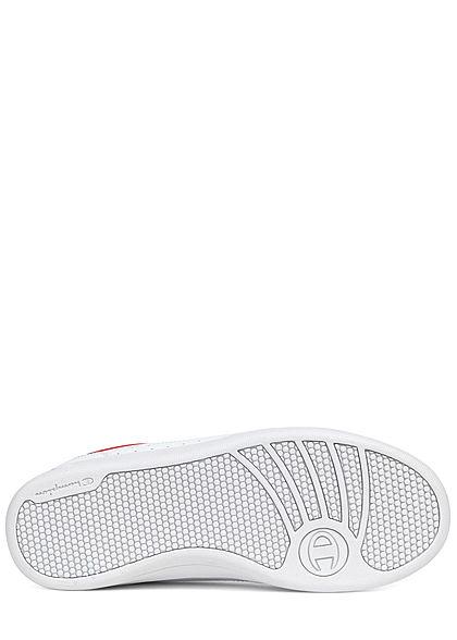 Champion Herren Schuh Low Cut Schuh Sneaker mit Logo Patch seitlich weiss rot navy