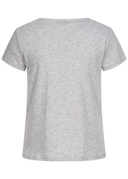 Eight2Nine Damen T-Shirt Kaktus Print grau melange