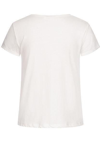Eight2Nine Damen T-Shirt Melone Print off weiss