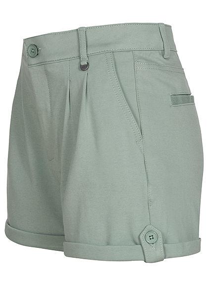 Eight2Nine Damen High-Waist Shorts Beinumschlag 4-Pockets mineral grün