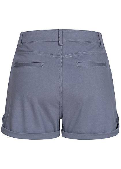 Eight2Nine Damen High-Waist Shorts Beinumschlag 4-Pockets bleached indigo