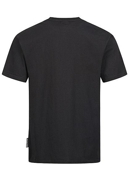 Southpole Herren T-Shirt Logo Print schwarz gelb