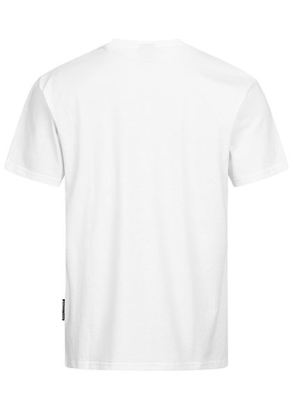 Southpole Herren T-Shirt Logo Print weiss schwarz