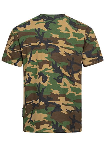 Southpole Herren T-Shirt Logo Print korean camo