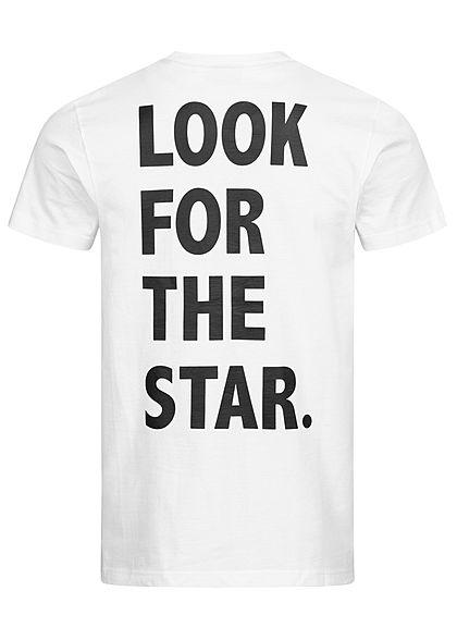Starter Herren T-Shirt All Net Logo Print Look for the Star Rückseite weiss