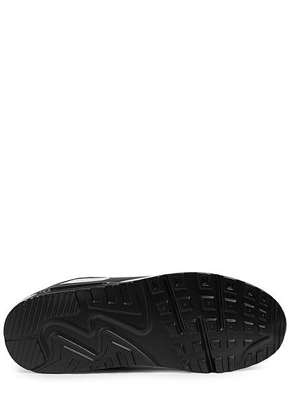 Seventyseven Lifestyle Damen Schuh Materialmix Sneaker zum schnüren schwarz weiss