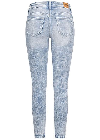 ONLY Damen Ankle Skinny Jeans Hose Regular Waist 5-Pockets hell blau denim