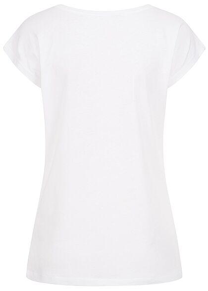 Stitch & Soul Damen T-Shirt Liberté Print weiss