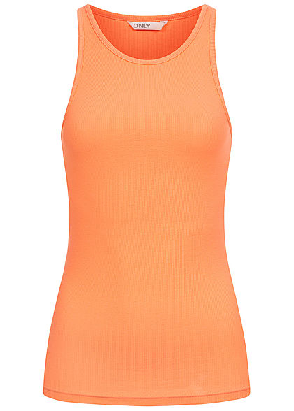 ONLY Damen NOOS Ribbed Tank Top cantaloupe orange