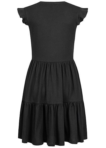 ONLY Damen NOOS V-Neck Mini Stufenkleid schwarz